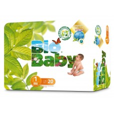 Bio Baby Eco Disposable Nappy Size 1: 3-6kg 20's