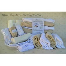 Full-Time Pack: All-in-Three Bamboo or Cotton Nappy