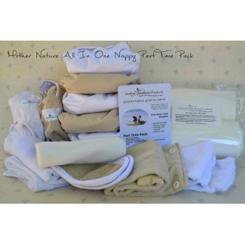 Part-Time Pack: All-In-Three Bamboo Nappy
