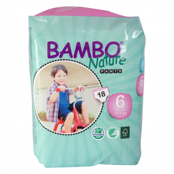 Bambo Nature Eco Disposable Training Pants (pull-ups) size XL 18 kg plus 18's