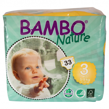 Bambo Nature Eco Disposable Nappies Size 3: 5-9 kg's 30's (midi)