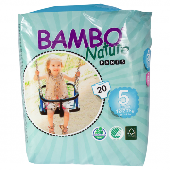 Bambo Nature Eco Disposable Trainers (pull-ups) Size 12-20 kg's 20's (junior)