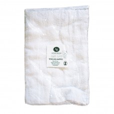 Terry  Toweling Square Nappies/ Cotton Pre-folds  2-Pack
