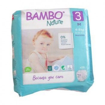 Bambo Nature Eco Disposable Nappies Size 4-8 kg's 28's (midi)